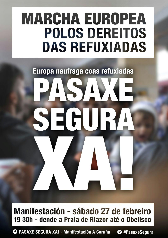 Compostela Aberta insta á Deputación a sumarse á Marcha Europea polos Dereitos das Persoas Desprazadas PERSOAS DESPRAZADAS