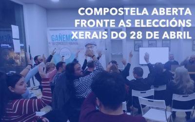 COMPOSTELA ABERTA FRONTE AS ELECCIÓNS XERAIS DO 28 DE ABRIL