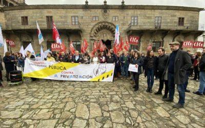 Compostela Aberta pídelle á Xunta que paralice a creación dunha universidade privada en Galicia