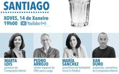 """Compostela Aberta inicia unha campaña para informar á veciñanza """"do que nos xogamos co modelo de xestión da auga"""""""