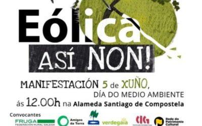 """Compostela Aberta adhírese ao manifesto """"Eólica, así non!"""" e chama á participación á mobilización convocada para mañá en Santiago"""